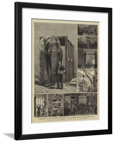 The Removal of Jumbo, I, on the Way to the Docks-Alfred Chantrey Corbould-Framed Art Print
