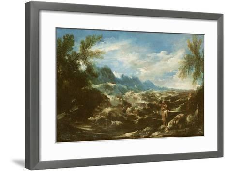Saint Anthony of Padua Preaching to the Fishes at Rimini, C.1720-25-Alessandro Magnasco-Framed Art Print