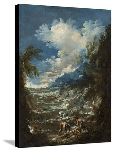 Landscape with Fishermen, C.1730-Alessandro Magnasco-Stretched Canvas Print