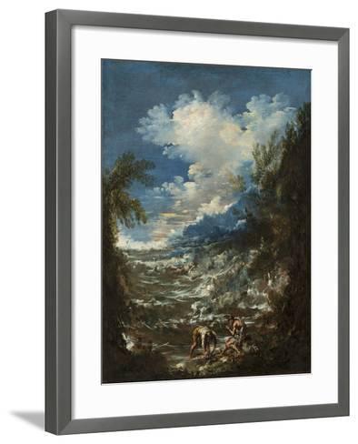 Landscape with Fishermen, C.1730-Alessandro Magnasco-Framed Art Print