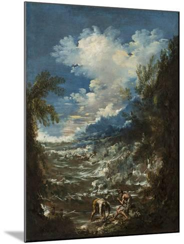 Landscape with Fishermen, C.1730-Alessandro Magnasco-Mounted Giclee Print