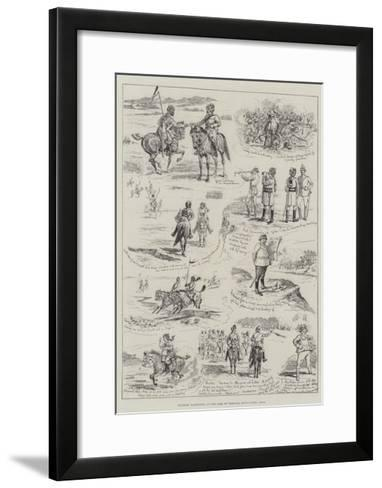 Military Manoeuvres at the Camp of Exercise, Rawul Pindi, India-Alfred Courbould-Framed Art Print