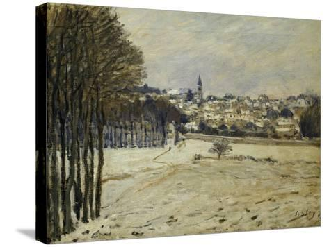 The Snow at Marly-Le-Roi, 1875-Alfred Sisley-Stretched Canvas Print
