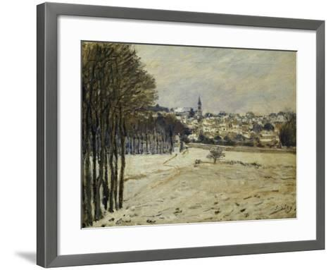 The Snow at Marly-Le-Roi, 1875-Alfred Sisley-Framed Art Print