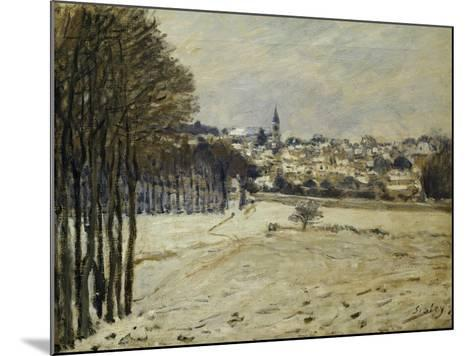 The Snow at Marly-Le-Roi, 1875-Alfred Sisley-Mounted Giclee Print