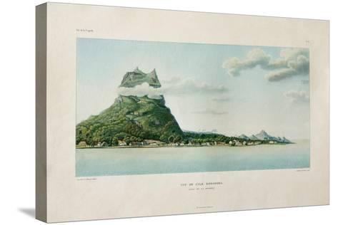 View of the Island of Bora Bora-Ambroise Tardieu-Stretched Canvas Print