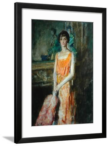 Mademoiselle De Pourtales, C.1925-Ambrose Mcevoy-Framed Art Print