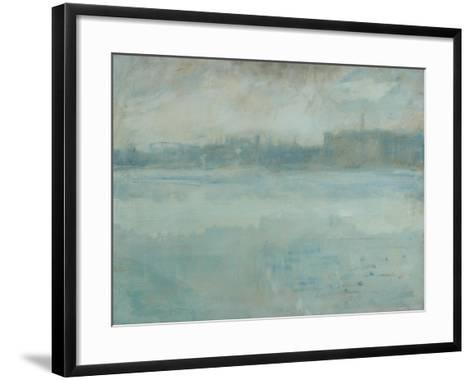 The Thames from the Artist's House in Grosvenor Road-Ambrose Mcevoy-Framed Art Print