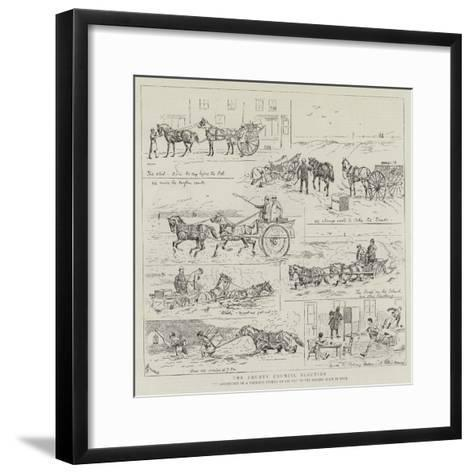 The County Council Election-Alfred Chantrey Corbould-Framed Art Print