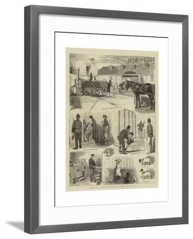 Home for Lost and Starving Dogs, Battersea-Alfred Chantrey Corbould-Framed Art Print