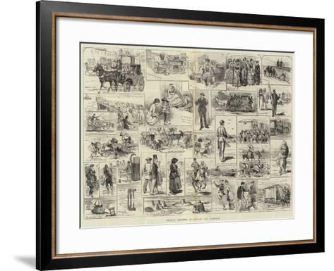 Holiday Sketches at Margate and Ramsgate-Alfred Courbould-Framed Art Print