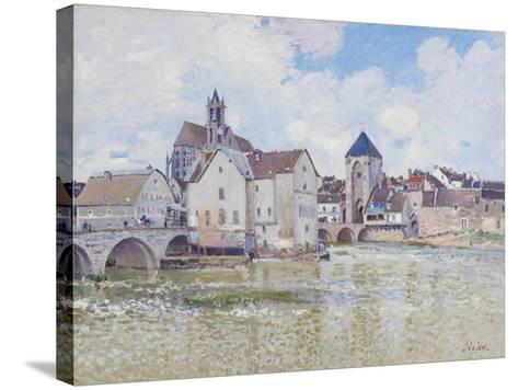 Le Pont De Moret, 1888-Alfred Sisley-Stretched Canvas Print