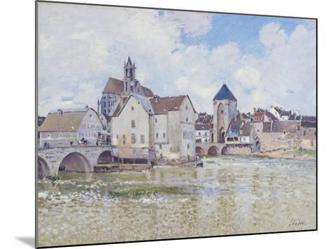 Le Pont De Moret, 1888-Alfred Sisley-Mounted Giclee Print
