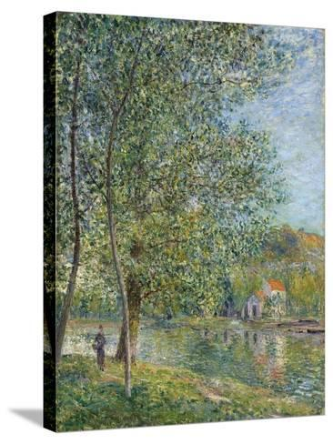 Morning Near the Loing; Matin Pres Du Loing, 1879-Alfred Sisley-Stretched Canvas Print
