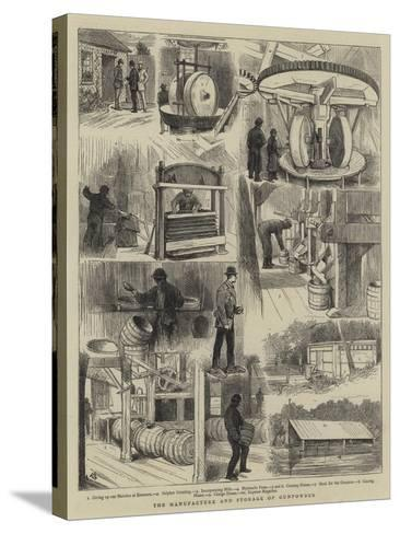 The Manufacture and Storage of Gunpowder-Alfred Chantrey Corbould-Stretched Canvas Print