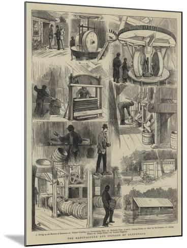 The Manufacture and Storage of Gunpowder-Alfred Chantrey Corbould-Mounted Giclee Print