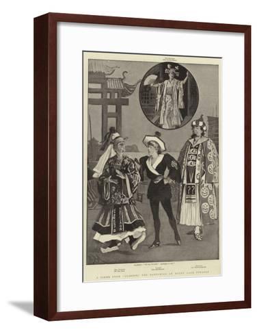 A Scene from Aladdin, the Pantomime at Drury Lane Theatre-Alexander Stuart Boyd-Framed Art Print