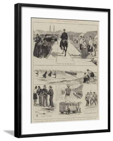 The Ashantee War, Volunteers from the 79th Highlanders Leaving England for the Ashantee War-Alfred Chantrey Corbould-Framed Art Print
