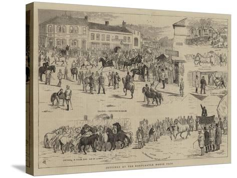 Jottings at the Horncastle Horse Fair-Alfred Chantrey Corbould-Stretched Canvas Print