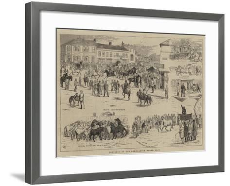 Jottings at the Horncastle Horse Fair-Alfred Chantrey Corbould-Framed Art Print