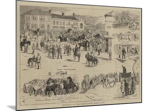 Jottings at the Horncastle Horse Fair-Alfred Chantrey Corbould-Mounted Giclee Print