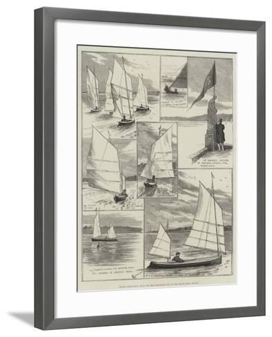 Royal Canoe Club, Race for the Challenge Cup at the Welsh Harp, Hendon-Alfred Courbould-Framed Art Print