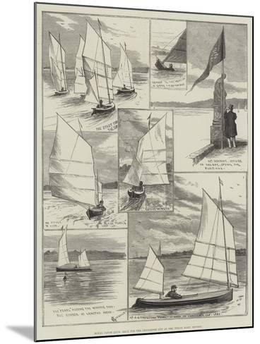 Royal Canoe Club, Race for the Challenge Cup at the Welsh Harp, Hendon-Alfred Courbould-Mounted Giclee Print