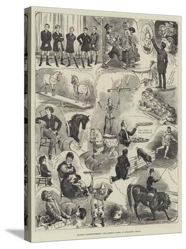 Holiday Entertainments, Our Artist's Notes at Hengler's Circus-Alfred Courbould-Stretched Canvas Print