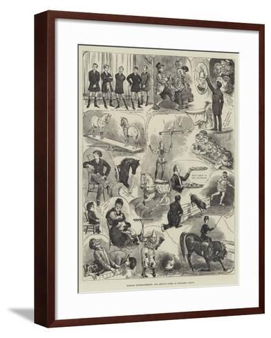 Holiday Entertainments, Our Artist's Notes at Hengler's Circus-Alfred Courbould-Framed Art Print