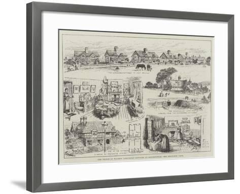 The Prince of Wales's Labourers' Cottages at Sandringham-Alfred Courbould-Framed Art Print