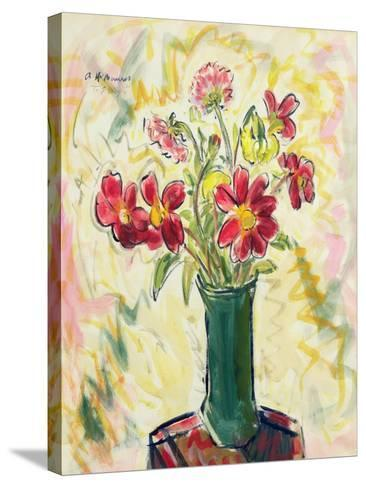 Flowers in a Green Vase, 1928-Alfred Henry Maurer-Stretched Canvas Print