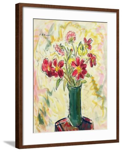 Flowers in a Green Vase, 1928-Alfred Henry Maurer-Framed Art Print