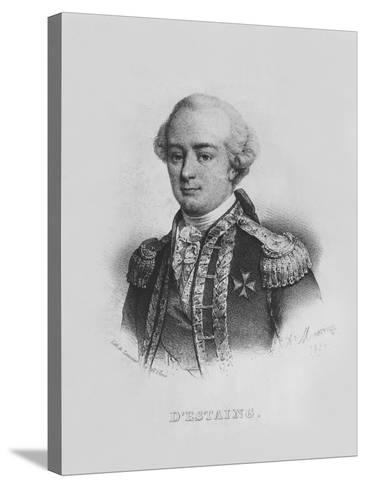 Charles Hector, Comte D'Estaing-Alfred Leon Lemercier-Stretched Canvas Print
