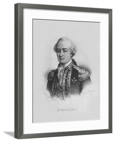Charles Hector, Comte D'Estaing-Alfred Leon Lemercier-Framed Art Print