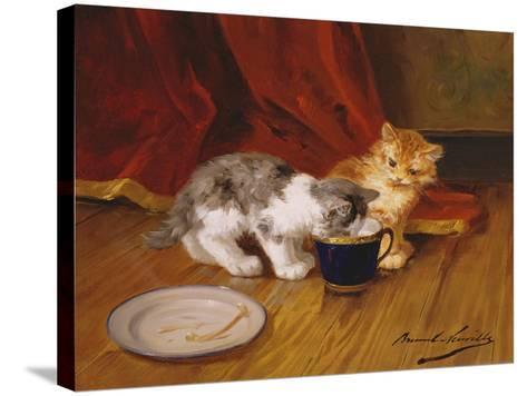Tea-Time-Alphonse Marie de Neuville-Stretched Canvas Print