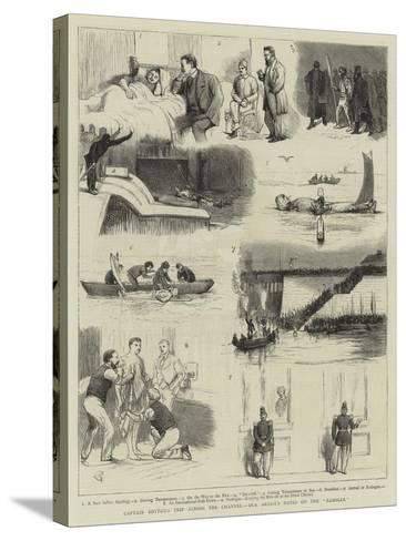 Captain Boyton's Trip across the Channel, Our Artist's Notes on the Rambler-Alfred Chantrey Corbould-Stretched Canvas Print