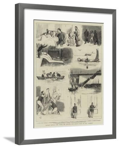 Captain Boyton's Trip across the Channel, Our Artist's Notes on the Rambler-Alfred Chantrey Corbould-Framed Art Print