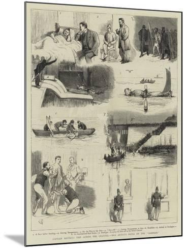 Captain Boyton's Trip across the Channel, Our Artist's Notes on the Rambler-Alfred Chantrey Corbould-Mounted Giclee Print