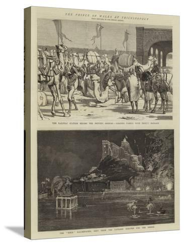 The Prince of Wales in Trichinopoly-Alfred Chantrey Corbould-Stretched Canvas Print