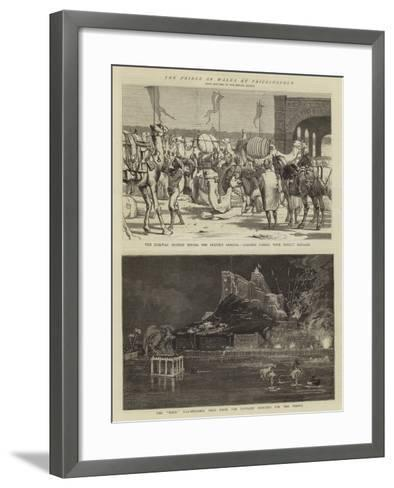 The Prince of Wales in Trichinopoly-Alfred Chantrey Corbould-Framed Art Print