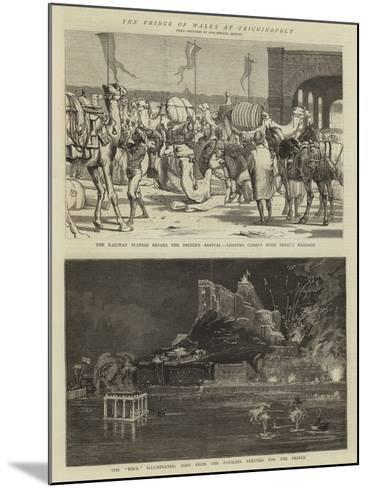 The Prince of Wales in Trichinopoly-Alfred Chantrey Corbould-Mounted Giclee Print