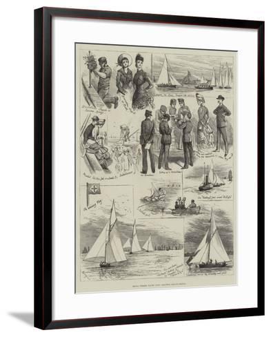 Royal Thames Yacht Club, Amateur Sailing Match-Alfred Courbould-Framed Art Print