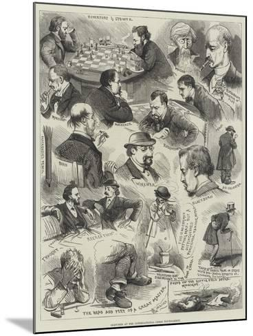 Sketches at the International Chess Tournament-Alfred Courbould-Mounted Giclee Print