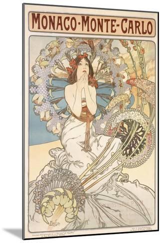 Monaco, Monte Carlo, 1897-Alphonse Mucha-Mounted Giclee Print