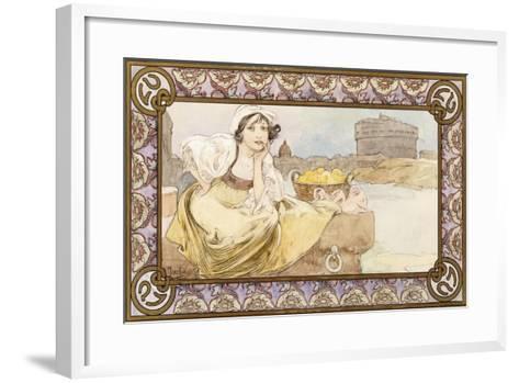 Italian Girl, 1900-Alphonse Mucha-Framed Art Print
