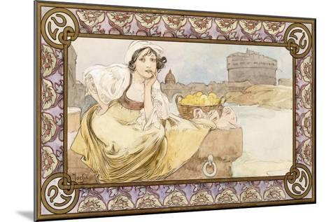 Italian Girl, 1900-Alphonse Mucha-Mounted Giclee Print