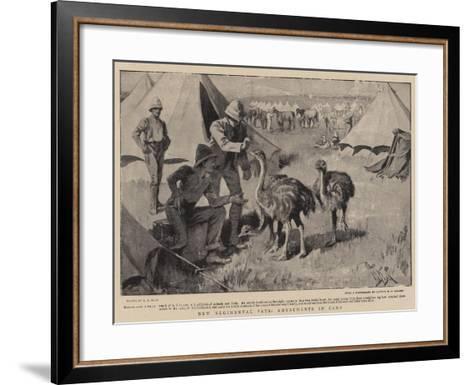 New Regimental Pets, Amusements in Camp-Alexander Stuart Boyd-Framed Art Print