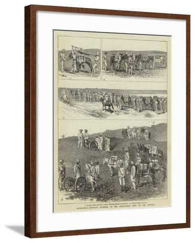 Afghanistan, Mountain Batteries of the Anglo-Indian Army on the Frontier-Alfred Chantrey Corbould-Framed Art Print