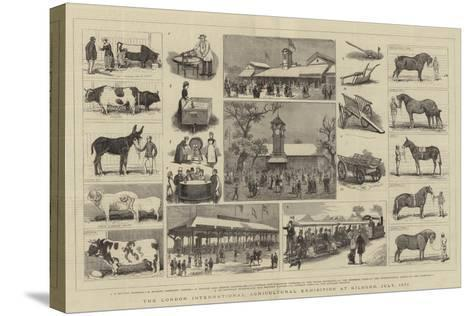 The London International Agricultural Exhibition at Kilburn, July 1879-Alfred Chantrey Corbould-Stretched Canvas Print