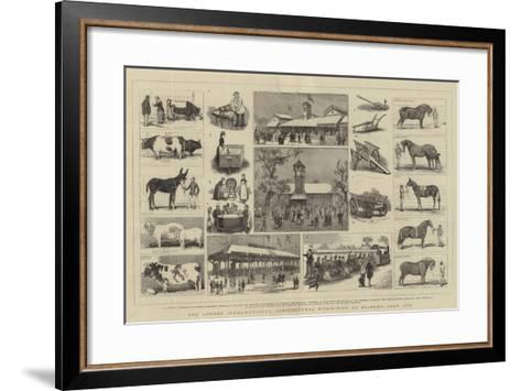 The London International Agricultural Exhibition at Kilburn, July 1879-Alfred Chantrey Corbould-Framed Art Print